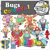 Colorful Bugs Clip Art