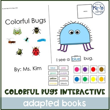 Colorful Bugs Interactive Book