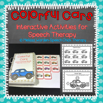 Colorful Cars Interactive Book for Speech Therapy