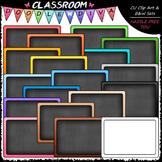 Colorful Chalkboards / Blackboards - Clip Art & B&W Set