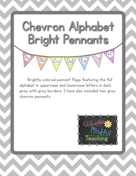 Colorful Chevron Alphabet Pennants
