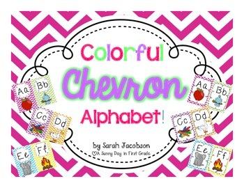 Colorful {Chevron} Alphabet Posters!