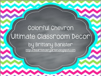 Colorful Chevron Classroom Decor Mega Bundle