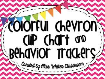 Colorful Chevron Clip Chart and Behavior Trackers