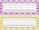 Colorful Chevron Name Plates {Multi-Color}