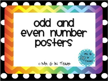 Colorful Chevron Odd and Even Number Posters