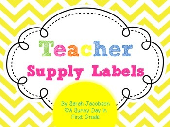 Colorful {Chevron} Teacher Supply Labels! {FREEBIE!}