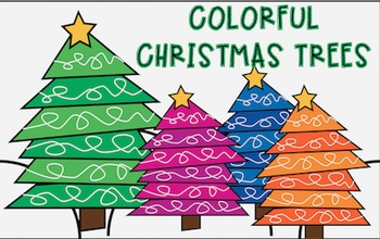 Colorful Christmas Trees