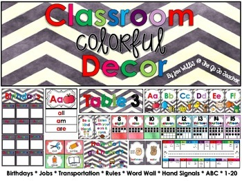 Colorful Classroom Decor