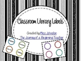 Colorful Classroom Library Labels {including editables}