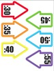 Colorful Clock Labels