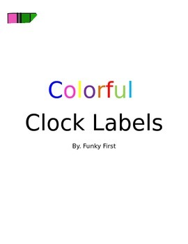 Colorful Clock Lables