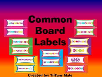 Colorful Common Board Labels