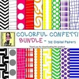 #thriftythursday Colorful Confetti Digital Paper BUNDLE
