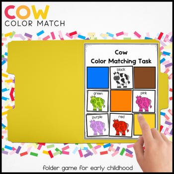 Colorful Cows Matching Folder Game for Early Childhood Spe