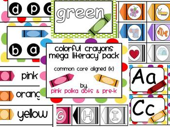 Colorful Crayons MEGA Literacy Pack ~ ABC, Beginning Sound