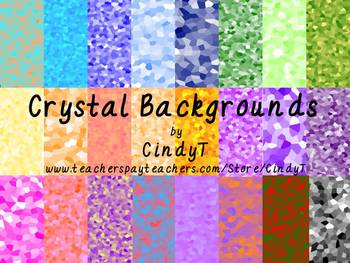 """Colorful """"Crystal"""" Backgrounds-Commercial or Personal use"""