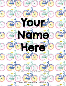 Colorful Cycle Lesson Plan Book: Plan in Style