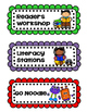 Colorful Daily Schedule Cards