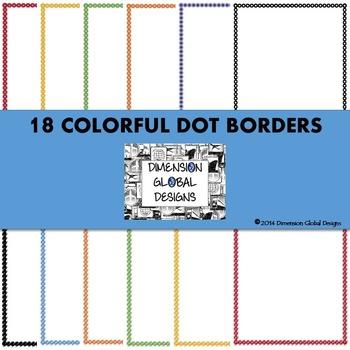 Colorful Dots Border Bundle