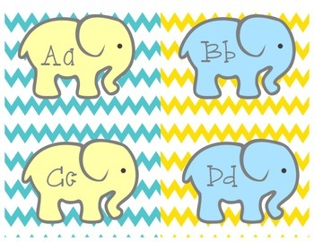 Colorful Elephant Wordwall headers