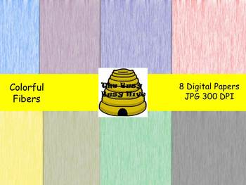Colorful Fibers Digital Papers {8 backgrounds for personal