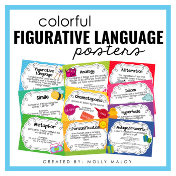 Colorful Figurative Language Posters