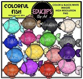 Colorful Fish Clip Art Bundle