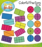 Colorful Fractions Clipart — 20 Colorful Graphics!
