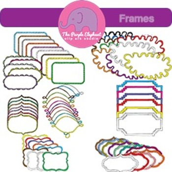 Colorful Frames: Hand-drawn 8 Styles Many Colors