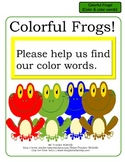 Colorful Frogs!  File Folder Game