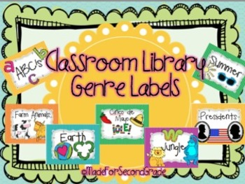 Colorful Genre Labels with Pictures