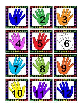Colorful Hands Calendar Set