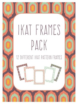 Colorful Ikat Frames