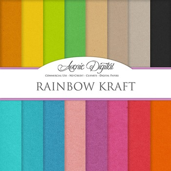 Colorful Kraft Paper Background Textures Digital Paper scr