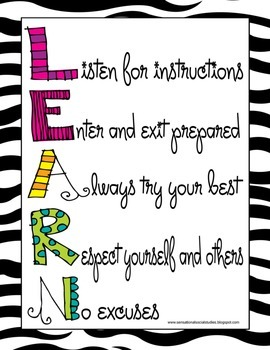 Colorful LEARN Acronym Poster