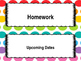 Colorful Labels for Classroom Objective Boards (objective,
