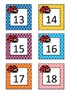 Colorful Ladybugs Calendar Number Cards 1-31