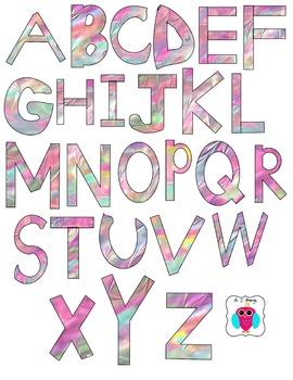 Colorful Letter Clip Art