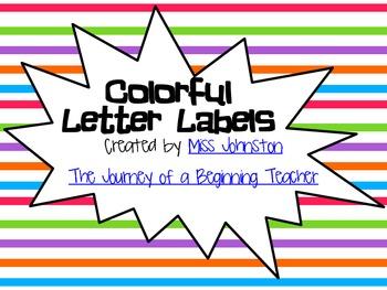 Colorful Letter Labels