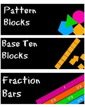 Colorful Math Labels