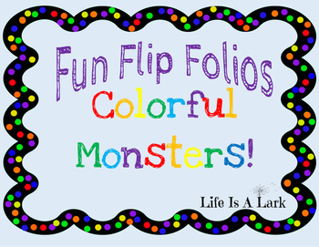 Colorful Monsters Fun Flip Book ... Interactive Emergent Reader