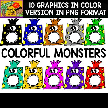 Colorful Monsters - Set of Cliparts