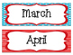 Colorful Months of the Year