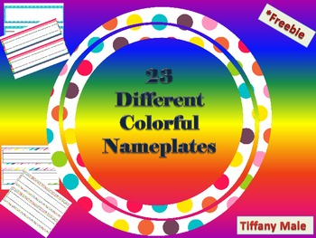 Colorful Name Plates