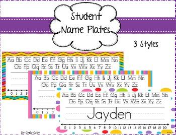 Colorful Nameplates