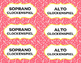 Colorful Note Orff Instrument Labels