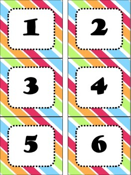 Colorful Number Cards