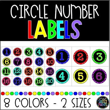 Colorful Number Circle Labels
