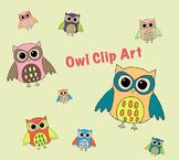 Colorful Owl Clip Art